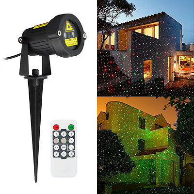 Outdoor Laser Christmas Lights Show Illuminate Landscape Projector Lights Lawn