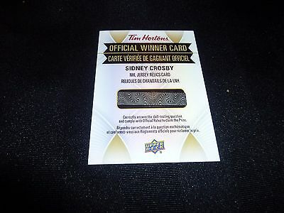 2016-17 Tim Hortons Jersey Relic Sidney Crosby Redemption