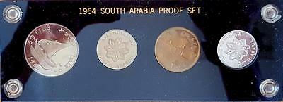 1964 South Arabia Proof Set - 4 Coins In Capital Holder - Beautiful