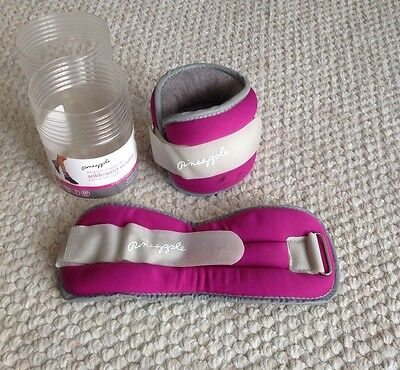 Used Pineapple Bright Pink Ankle Wrist Walking Weights 2.5lbs/1.13kg Each