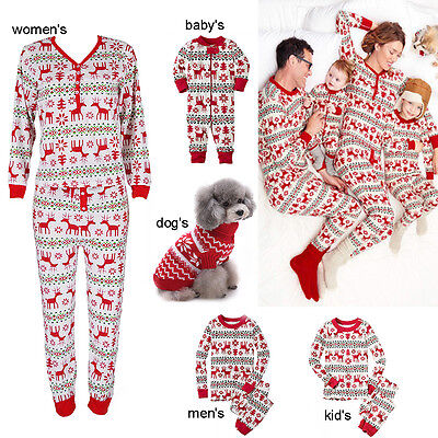 HOT Christmas Family Matching Sleepwear Set for Kids Adult Women Men Pajamas Lot
