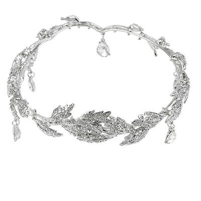 Elegant Bridal Rhinestone crystal prom hair chain forehead band Headpiece GT