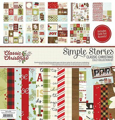 Simple Stories Classic Christmas Collection 12 x 12 Collection Kit 7300 2016