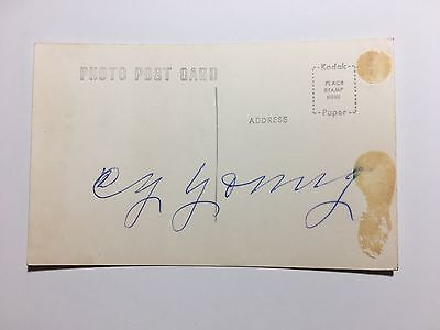 Cy Young Signed Vintage Postcard HOF Pitcher Autograph