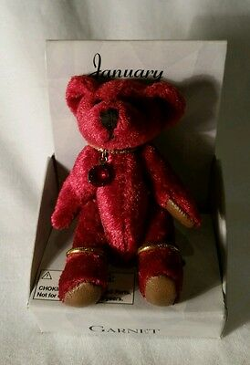 "Russ Mini Bear of the Month Birthday Birthstone Bear, January, 2 1/2"" Tall"