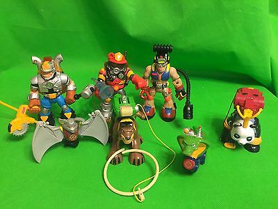Fisher Price Rescue Heroes Lot Action Figures with some Accessories & Animals