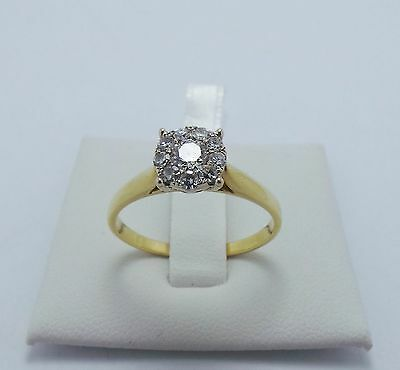 18ct YELLOW GOLD OVER 1/2 CT DIAMOND RING VALUED @ $4018 COMES WITH VALUATION