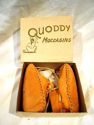 Quoddy Indian Moccasins Infant size Original box