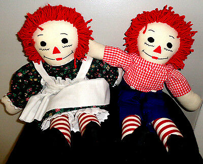 Raggedy Ann and Andy Dolls, 20""