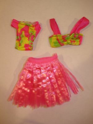 HAWAIIAN FUN BARBIE SWIM SUIT~COMPLETE with PINK HULA SKIRT~VTG 90'S~EXCELLENT