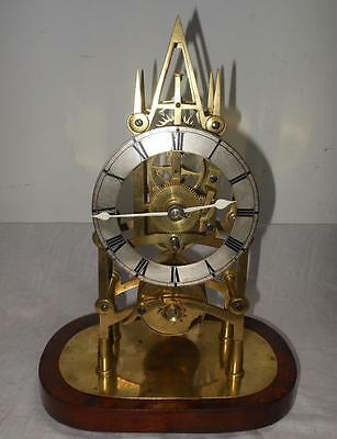gothic fusee timepiece skeleton clock