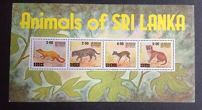 Sri Lanka Animals Mini Sheet Mint Mnh