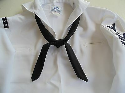 Usn Us Navy Enlisted & Petty Officers Dress Whites Neckerchief Rolled Tie Ur Own