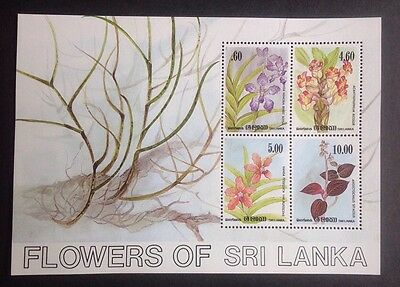 Sri Lanka Flowers Of Sri Lanka Mini Sheet Mint Mnh