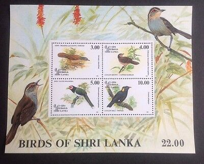 Sri Lanka Birds Of Shri Lanka Mini Sheet Mint Mnh