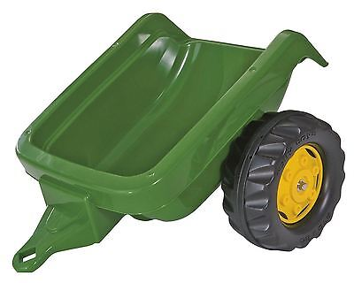 Rolly Kid Toys Childrens Pedal Green John Deere Tractor Trailer