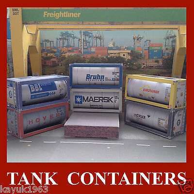 Oil Tank Model Shipping Containers Oil Tankers OO Gauge 1:76 Choose from list