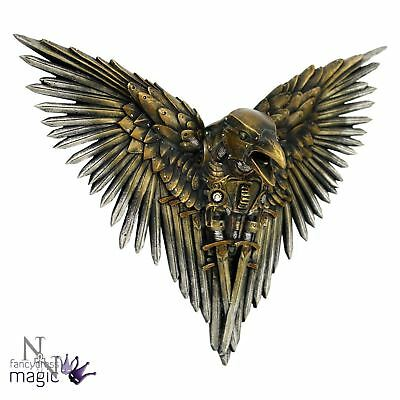 Nemesis Now 27cm Blade Raven Wall Plaque Mounted Steampunk Dimension Hanging