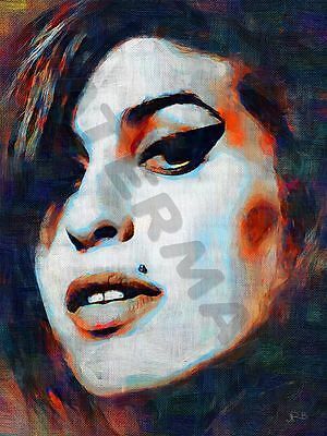 Amy Winehouse Frank Back To Black Art Print Poster Oil Painting Lff0005