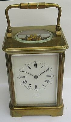 Superb Antique J.vincent Of Weymouth 8-Day Brass Carriage Clock