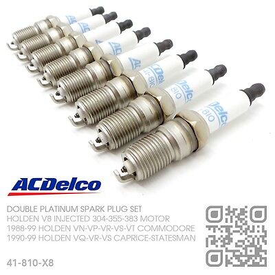Acdelco Platinum Spark Plugs V8 Injected 5.0L 304 [Holden Vn-Vp-Vr-Vs Commodore]