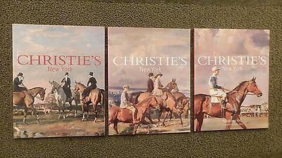 Lot Of 3 Christie's Of New York Sporting Art Auction Catalogs 1999,2001 And 2002