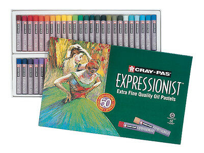 Sakura Cray-pas Expressionist Artist Quality Oil Pastels, Set 48 colored Pastels
