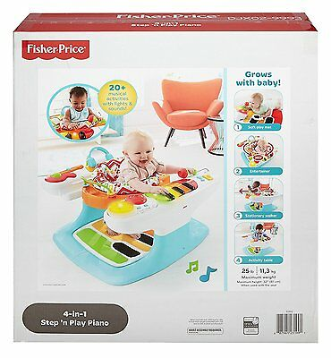Fisher Price Musical 4 in 1 Step N Play Piano Exersaucer Activity Baby Gym NEW