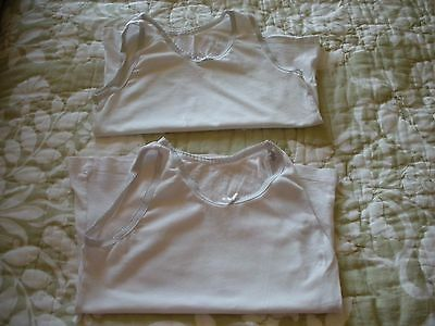 Two Girls Vests In Good Used Condition Age 6-7 Years - Ideal For Gran's House!