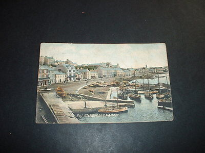 N. IRELAND   PORT STEWART  AND HARBOUR EARLY 1900s  POSTCARD