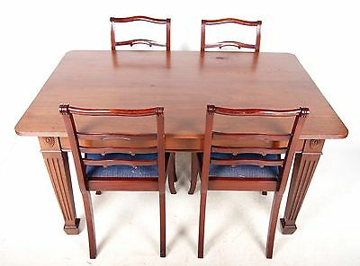 Antique Dining Table and Chairs Mahogany 4 Dining Chairs Fine Quality