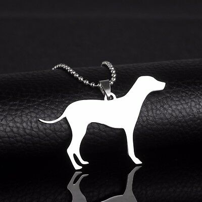 Stainless Steel Dalmatian Dal Leopard Carriage Spotted Coach Pet Dog Tag Pendant