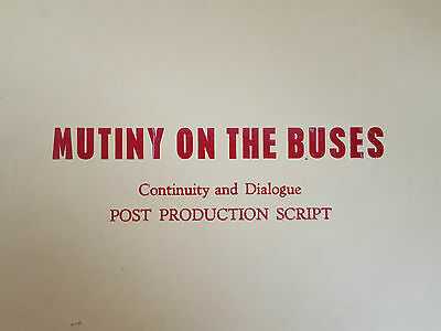 Original MUTINY ON THE BUSES Post Production FILM / MOVIE SCRIPT Classic Comedy