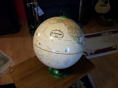 World Globe on a green stand 12 inch globemaster with raised surface