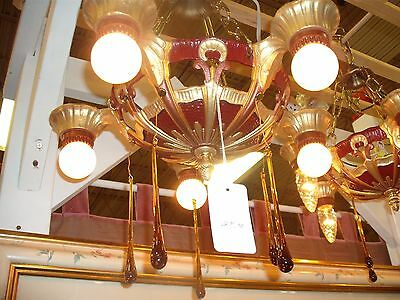Art Deco-1930's Hanging Chandelier Made by Lincoln Corp