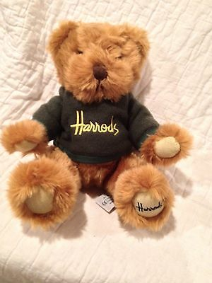 Cute Harrods Teddy Bear Green Sweatshirt Plush Brown  12""