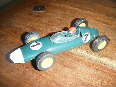 SCALEXTRIC Tri-ang Vintage 1960's C72 FJ BRM BR GREEN White Nose #7