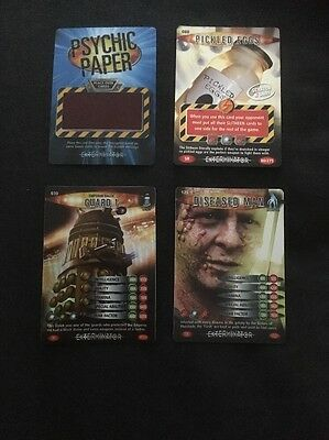 Doctor Who Battles In Time 4 Super Rare Cards