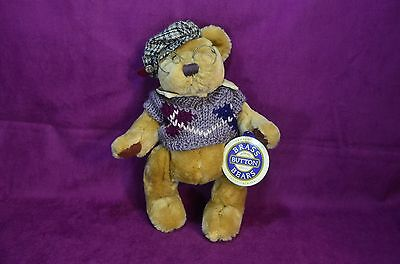 Pickford Bear Sherwood The Brass Button Bear Handcrafted 1996 Jointed / Glasses