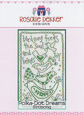 Polka Dot Dreams Birdsong RQ606 - Pre-printed Embroidery Linen