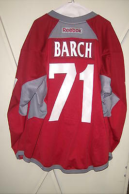 PHOENIX COYOTES Krys Barch red #71 unused Reebok jersey from Sept 2013 game