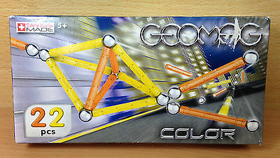 GEOMAG Magnetic World - 22-piece Colour Set - NEW SEALED - Box has slight wear