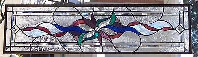 Stained Glass window hanging 35 1/2 X 9 3/4""