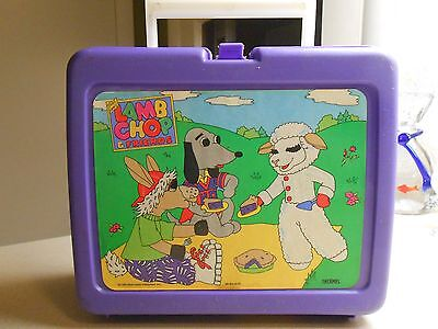 lamb chop and friends plastic lunch box vintage