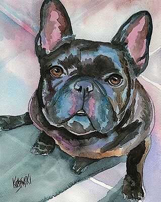 French Bulldog 8x10 signed art PRINT from painting RJK