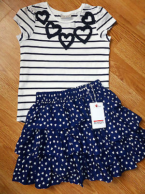 Bnwt Heart Skirt And Top Set Size 4-5 Years
