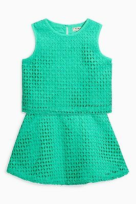 Bnwt Next Jade Green Top And Skirt Set Size 4 Years