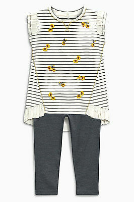 Bnwt Next Stripe Tunic And Leggings Set Size 3-4 Years
