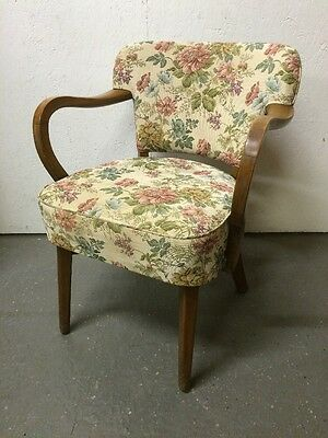 Vintage Elm Framed 1930's Armchair / Bedroom / Hallway Chair