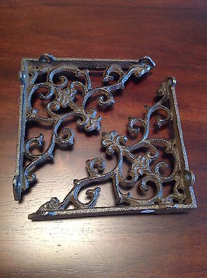 2 Cast Iron Arrow Bracket Garden Shelf Brackets Brace